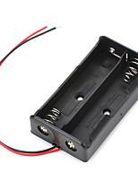 7.4v 2 x 18650 batterie porte-boîte de cas avec des fils