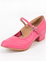 Women's Modern Synthetic Microfiber PU Heel Outdoor Buckle Splicing Blushing Pink Customizable