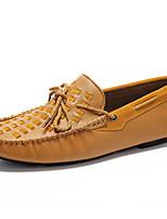 Недорогие -Для мужчин обувь Наппа Leather Весна Осень Мокасины Топ-сайдеры для Повседневные Для вечеринки / ужина Черный Кофейный Коричневый