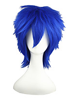 cheap -14inch short blue vocaloid kaito synthetic hair anime cosplay wig cs-011a