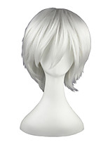cheap -Synthetic Hair Wigs Straight Cosplay Wig 13cm(Approx5inch) White