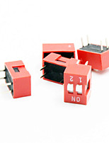 dip switch à 2 chiffres - rouge + blanc (5 pièces)