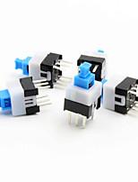 7 x 7mm autobloquant switch - bleu + blanc + noir (5 pièces Pack)