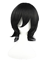 cheap -Synthetic Hair Wigs Straight Cosplay Wig Black