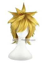 abordables -Perruque Synthétique Droit Sans bonnet Blond Perruque de Cosplay 13 cm