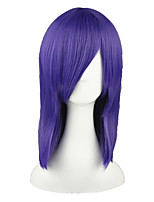 cheap -Synthetic Wig Straight Density Capless Purple Cosplay Wig 13cm(Approx5inch) Synthetic Hair