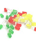 5mm LED que establecen los diodos emisores de luz - rojo + amarillo + verde (30p)