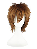 cheap -Synthetic Wig Straight Capless Brown Cosplay Wig 13cm(Approx5inch)