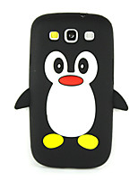 cheap -3D Penguin Silicone Protective Phone Case Cover For Galaxy S7 edge/S7/S6/S5/S4/S4 Mini/S3 Mini