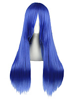 cheap -Synthetic Wig Straight Density Capless Blue Cosplay Wig 13cm(Approx5inch) Synthetic Hair