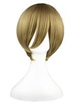 cheap -14inch Short Flaxen Gin Tama Okita Sougo Synthetic Anime Cosplay Wig CS-002E