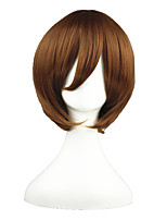 cheap -14inch Short Brown Sekai ichi Hatsukoi Yoshino Chiaki Synthetic Anime Cosplay Wig CS-001I