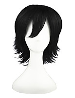cheap -Synthetic Hair Wigs Straight Cosplay Wig 13cm(Approx5inch) Black