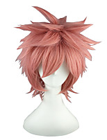 cheap -14inch short pink fairy tail natsu dragneel synthetic anime cosplay wig cs-011c