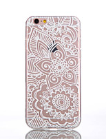 abordables -Para Funda iPhone 6 / Funda iPhone 6 Plus Transparente / Diseños Funda Cubierta Trasera Funda Flor Suave TPUiPhone 6s Plus/6 Plus /