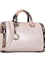 Women Bags All Seasons PU Tote Zipper for Casual Formal Blue White Black Red Blushing Pink