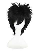 cheap -14inch short black naruto cosplay uchiha sasuke synthetic anime cosplay hair wig cs-011d