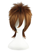 cheap -14inch short katekyo hitman reborn sawada tsunayoshi synthetic anime hair wig brown cosplay wig cs-021a