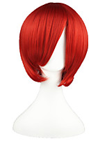 cheap -14inch Short Dark Red Vocaloid Akaito Synthetic Anime Cosplay Wig CS-002D