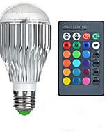 Недорогие -10W E26/E27 Круглые LED лампы A50 1 Высокомощный LED 600-800 lm RGB На пульте управления AC 85-265 V 1 шт.