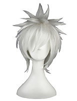 cheap -Synthetic Hair Wigs Straight Capless Cosplay Wig White