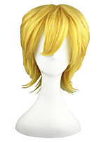 cheap -14inch short blonde kingdom hearts ventus synthetic anime cosplay wig cs-010a
