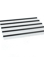 landa tianrui de 17 mm de 40 pines paso de 2,54 mm de cabeza alfiler tm-bricolaje - negro (5pcs)