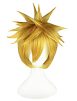 cheap -14inch Short Light Blonde BeachKurosaki ichigo Synthetic Hair Anime Cosplay Wig CS-001L