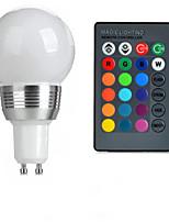 Недорогие -3W GU10 Круглые LED лампы A50 1 Высокомощный LED 100-200 lm RGB На пульте управления AC 85-265 V 1 шт.