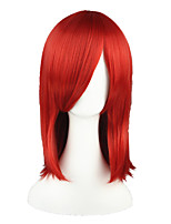 cheap -Synthetic Wig Straight Red Capless Cosplay Wig 13cm(Approx5inch) Synthetic Hair