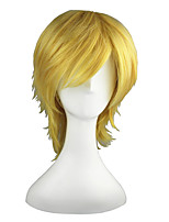 cheap -Synthetic Hair Wigs Straight Capless Cosplay Wig 13cm(Approx5inch) Blonde