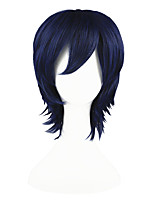 cheap -Synthetic Hair Wigs Straight Cosplay Wig Blue