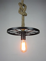 Retro Contracted Wrought Iron Hemp Rope Pendant Lights RestaurantCafe Game RoomGarage light Fixture