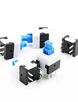 8 x 8 mm auto-commutateur de verrouillage - bleu + blanc + noir (5 pièces Pack)