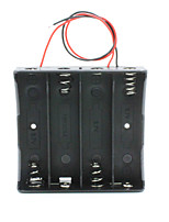 14.8v 4 * 18650 batterie titulaire boîte de cas avec des fils - noir