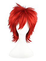 cheap -Synthetic Wig Straight Capless Red Cosplay Wig