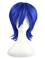 cheap -Synthetic Wig Straight Density Capless Women's Blue Cosplay Wig Synthetic Hair
