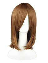 cheap -18inch medium long straight umineko no nakukoroni ushiromiya maria light brown anime cosplay wig cs-025b