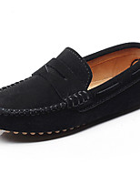 cheap -Boys' Shoes Leather Spring Summer Light Soles Loafers & Slip-Ons for Casual Outdoor Black Gray Brown Royal Blue