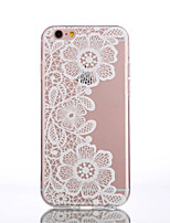 For iPhone 6 Case / iPhone 6 Plus Case Transparent / Pattern Case Back Cover Case Lace Printing Soft TPUiPhone 6s Plus/6 Plus / iPhone