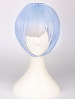 cheap -2016 Fashion Blue Color Short 30CM Straight Cosplay Wigs Japanese Qute Girl Style
