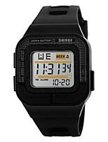 Недорогие -SKMEI Муж. Спортивные часы электронные часы Цифровой Стеганная ПУ кожа Материал ремешка Черный / Роуз 30 m Защита от влаги Будильник Календарь Цифровой Черный Серый Розовый / Секундомер / LED