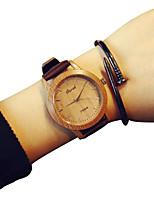 Недорогие -Жен. Модные часы Кварцевый Кожа Синий / Оранжевый / Коричневый Повседневные часы Аналоговый Кофейный Зеленый Синий Один год Срок службы батареи / SSUO LR626