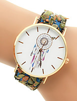 Недорогие -Жен. Модные часы Часы-браслет Кварцевый Черный / Белый / Синий Повседневные часы Аналоговый Лиловый Красный Синий