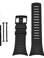 preiswerte -Schwarz Caucho durable Sport Band Für Suunto Uhr 24mm