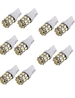 10pcs T10 1206 24SMD License Plate Signal Led Indication Reading Lights Interior Light White Color DC12V