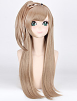 cheap -80CM Cosplay Straight Party Wig Beige Blonde Lovely Wig for Europe and America Girl's Gift Hot Sale