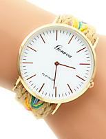 baratos -Mulheres Relógio de Moda Bracele Relógio Quartzo Cores Múltiplas Relógio Casual Analógico Prata Dourado