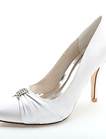Femme Chaussures de mariage Chaussures formelles Printemps Eté Satin Mariage Soirée & Evénement Strass Talon Aiguille Rouge Bleu Rose