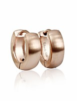 Silk Surface Round Cutting Huggie Earrings